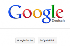 Googles Startseite